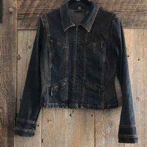 DKNY dark wash jean jacket